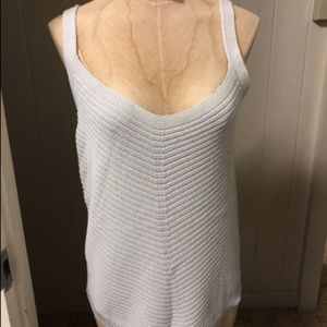NEW UNIQLO U sz L Light Gray Knit Sweater Tank Top